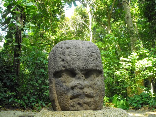 Olmec Head in Villahermosa - Mexico